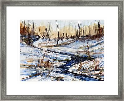 Winter Stream Framed Print by Judith Levins
