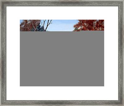 Winter Stream Framed Print by Laura Tasheiko