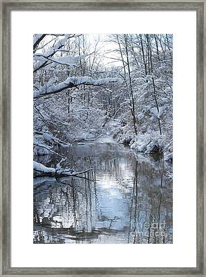 Framed Print featuring the photograph Winter Stream by Lila Fisher-Wenzel