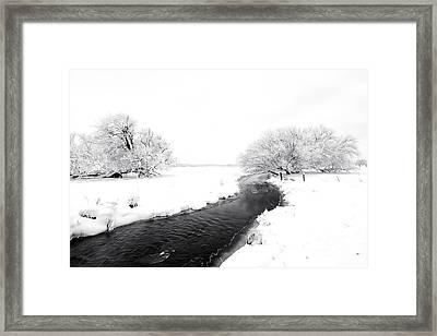 Winter Stream Framed Print by Mike Dawson