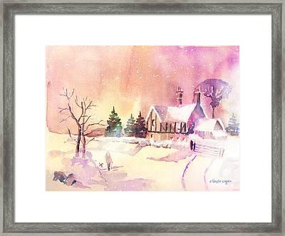 Winter Stroll Framed Print by Arline Wagner