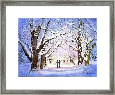 Winter Stroll Framed Print by Leslie Redhead