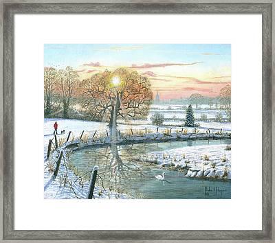 Winter Stroll Framed Print by Richard Harpum