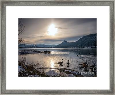 Winter Sugarloaf With Geese II Framed Print