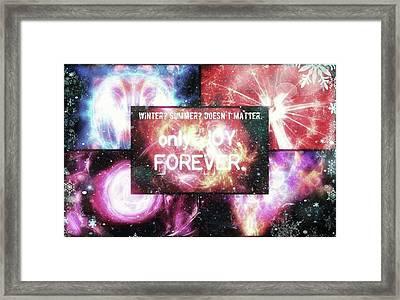 #winter #summer #joy #forever Framed Print by Michal Dunaj