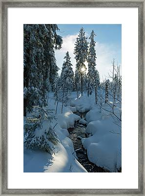 winter sun in Upper Harz Framed Print by Andreas Levi