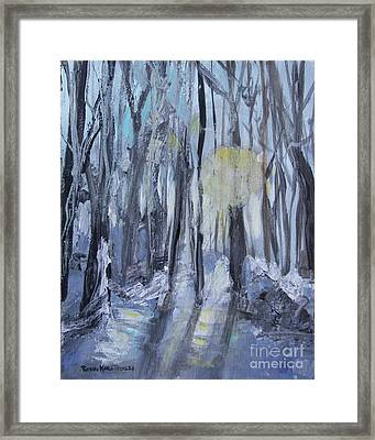 Framed Print featuring the painting Winter Sun by Robin Maria Pedrero