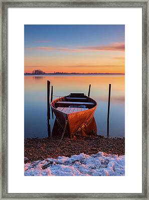 Winter Sunbathing Framed Print