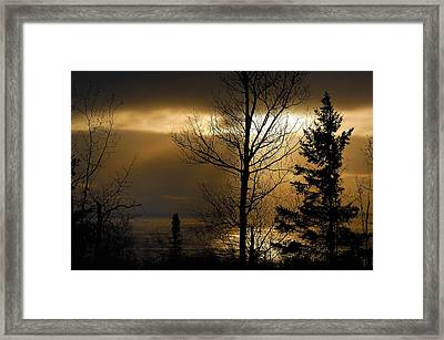 Winter Sunrise 1 Framed Print by Sebastian Musial