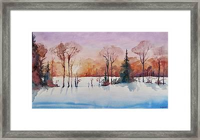 Winter Sunrise Framed Print