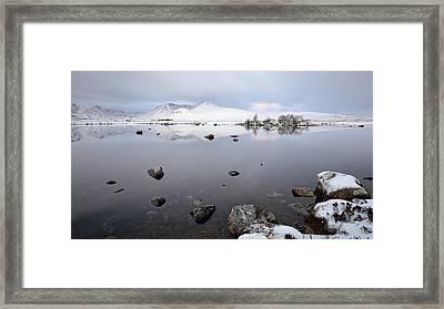 Framed Print featuring the photograph Winter Sunrise Glencoe by Grant Glendinning