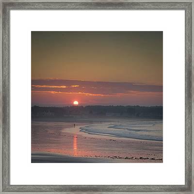 Winter Sunrise - Kennebunk Framed Print