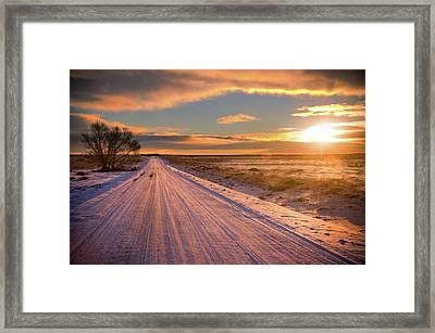 Winter Sunrise Light Framed Print by John De Bord