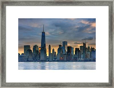 Winter Sunrise New York City Framed Print by Rick Berk