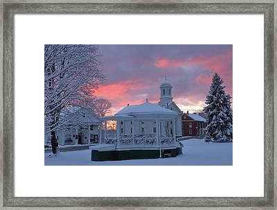 Winter Sunrise On The Common Framed Print by John Burk