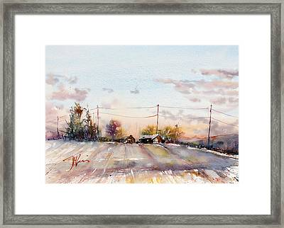 Winter Sunrise On The Lane Framed Print