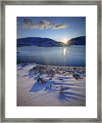 Winter Sunrise Framed Print by Richard Outram