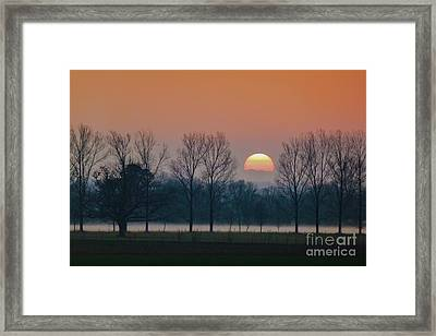 Winter Sunset 1 Framed Print by Jean Bernard Roussilhe