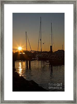 Winter Sunset At Annapolis Harbour Framed Print by Hideaki Sakurai