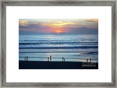 Framed Print featuring the photograph Winter Sunset At Carmel Beach by Susan Wiedmann