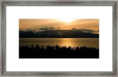 Winter Sunset At Lake Tahoe Framed Print