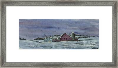 Winter Sunset Framed Print by Charlotte Blanchard