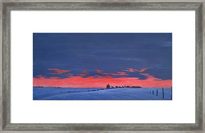 Winter Sunset Framed Print by Denise   Hoff