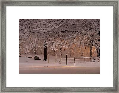 Winter Sunset Ft Hill Park Framed Print
