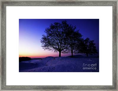 Winter Sunset Framed Print by Hannes Cmarits