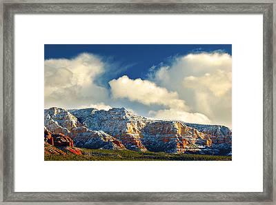 Winter Sunset In Sedona Framed Print