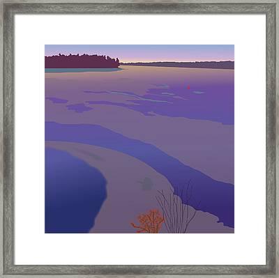Winter Sunset Framed Print by Marian Federspiel