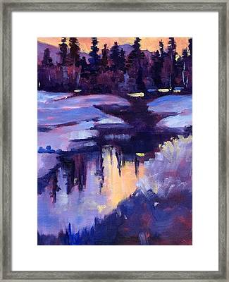 Winter Sunset Framed Print by Nancy Merkle