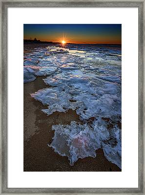 Winter Sunset On Fire Island Framed Print