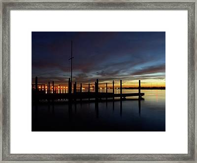 Winter Sunset On The Barnegat Bay #7 Framed Print by Tim Bond
