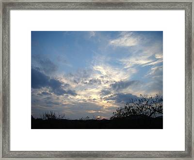 Winter Sunset One Framed Print by Ana Villaronga