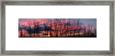 Framed Print featuring the photograph Winter Sunset Panorama by Francesa Miller