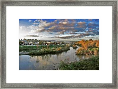 Framed Print featuring the painting Winter Sunset Santa Cruz by Larry Darnell