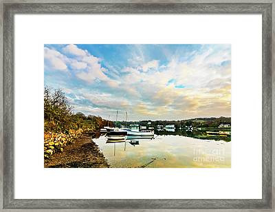 Winter Sunset Framed Print by Terri Waters