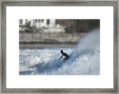 Winter Surf Framed Print by Thomas Stirling