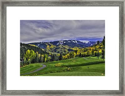 Winter Sweeps Fall Away Framed Print by Darryl Gallegos