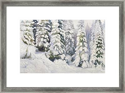 Winter Tale Framed Print by Aleksandr Alekseevich Borisov