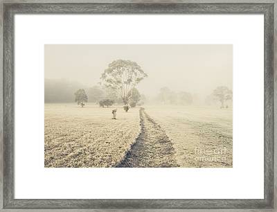 Winter Tasmania Background Framed Print by Jorgo Photography - Wall Art Gallery