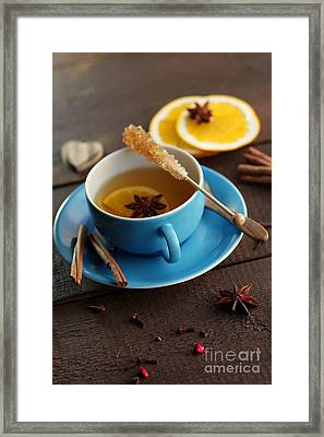 Winter Tea With Ingredients Framed Print by Tanja Riedel