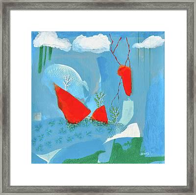 Winter Thunder Framed Print by Donna Blackhall