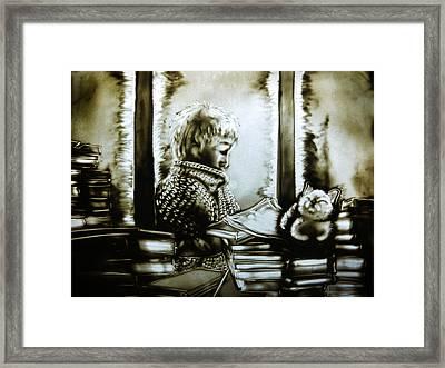 Winter Time Framed Print by Elena Vedernikova