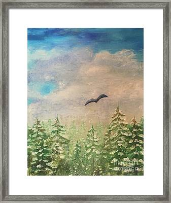 Winter To Spring Framed Print