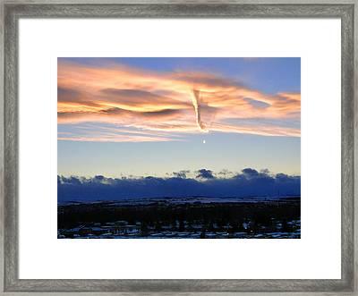Winter Tornado Framed Print by Al Bourassa