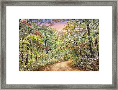 Winter Touch On Autumn Framed Print
