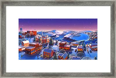 Winter Town Framed Print by Robin Moline