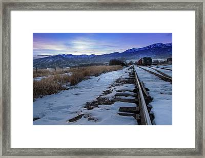 Winter Tracks Framed Print